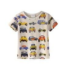Новинка года, футболка для мальчиков популярная Стильная хлопковая футболка с короткими рукавами детская одежда серого цвета с рисунком для мальчиков