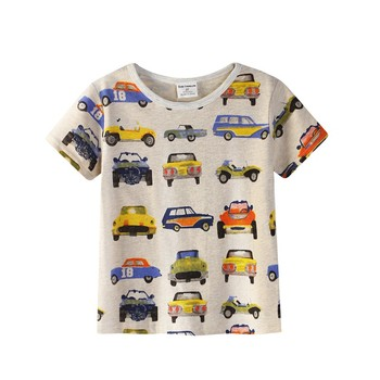 New 2018 Boy's T Shirt Popular Style Cotton Short-sleeved T-shirt Printing Children's Cartoon Gray Kids Boys Child's Clothes Boys T Shirts
