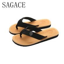 2f44dfa7a59f0 2019 SAGACE Men s Summer Flip-flops Slippers Beach Sandals Indoor Outdoor  Casual Shoes Sandals Men Sapato