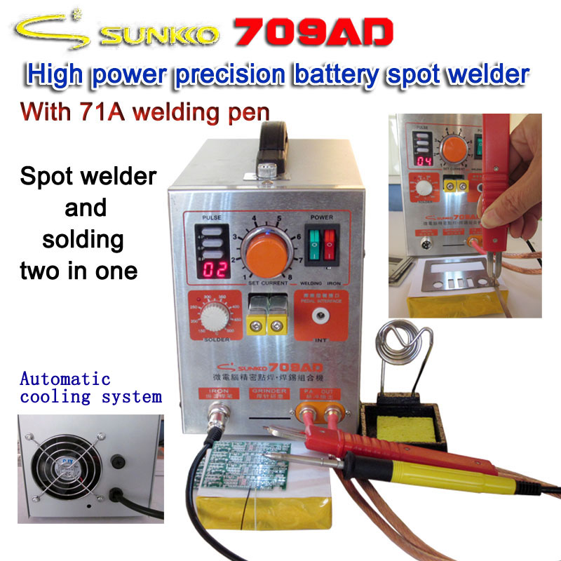 SUNKKO 709AD 4 IN 1 Welding machine fixed pulse welding constant temperature soldering Triggered induction spot