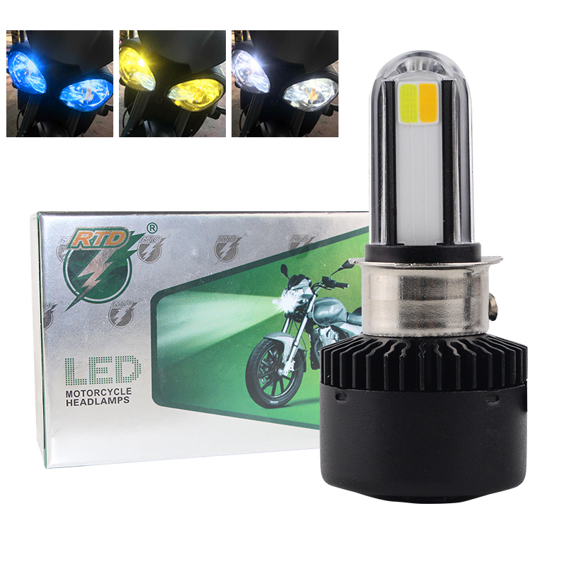 Generic RTD M02X Dual Color Changable Motorcycle LED Headlight Kit 35W 3500LM White Yellow 6500K 3000K Hi Lo Beam Lamp Scooters