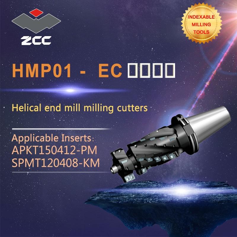 ZCC.CT оригинальная спиральная Концевая мельница HMP01 EC JT высокоэффективный токарный станок с ЧПУ, неразъемные фрезерные инструменты, фрезерн