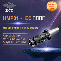 ZCC.CT original helical end mill HMP01 EC JT high performance CNC lathe tools indexable milling tools face milling tools