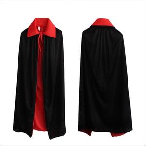 Image 2 - Halloween Cloak Cape Death Cloak Wizard Robe Magician Witch Fantasia Costume for Children