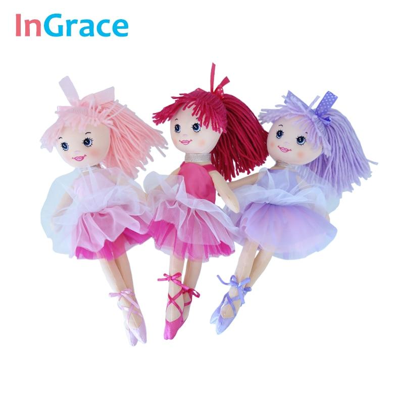 InGrace fantasy yarn skirt ballerina dolls for girls fashion girls toys unique gifts 30CM sweet dream dancing doll home decorat все цены