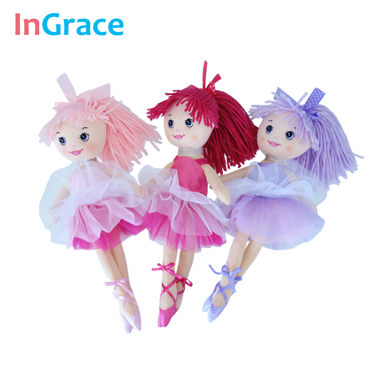 Ingrace фантазия пряжи юбка балерины куклы для девочек мода для девочек игрушки уникальные подарки 30 см сладкий сон Танцы Кукла дома decorat ...
