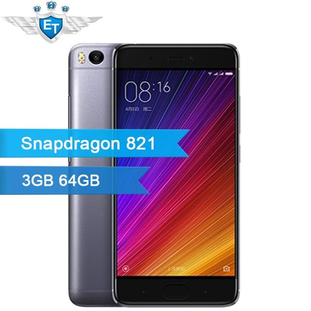 Оригинал Xiaomi Mi Mi5S 5S 3 ГБ 64 ГБ Смартфон 5.15 ''1920x1080 Snapdragon 821 Quad Core 12MP IMX 378 Камеры Отпечатков Пальцев ID NFC