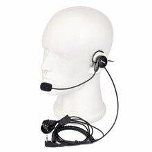 Walkie Talkie Retevis 2 Контактный Микрофон Пальцем PTT Гарнитура для Kenwood для Retevis для Baofeng H-777/RT-5R/888 s/UV5R Радио C9029A