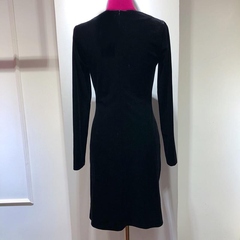 Split Automne 2018 Femmes Noir Qualité Robes Haute Hiver De Haut Robe Chaud Sexy fwrPfq
