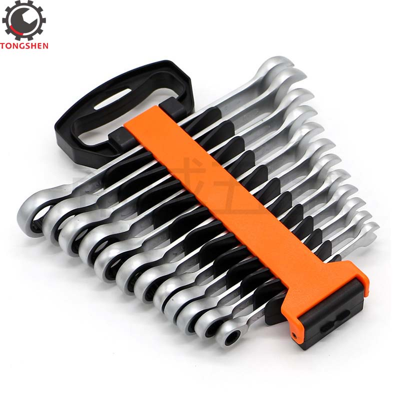 12Pcs Ratcheting Wrench Set METRIC Ratchet Wrench Set Chrome Vanadium Steel Tool Wratchet Wrench Set Ratchet Wrenches