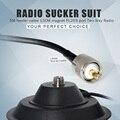 Envío libre 13 CM imán y 5 M cable de alimentación de Dos Vías de Radio Base Magnética de la Antena PL259