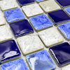 Deep Blue White Polished Porcelain Ceramic Tiles Mosaic Kitchen Backsplashl Tile Bathroom Floor Tiles Ceramic Wall