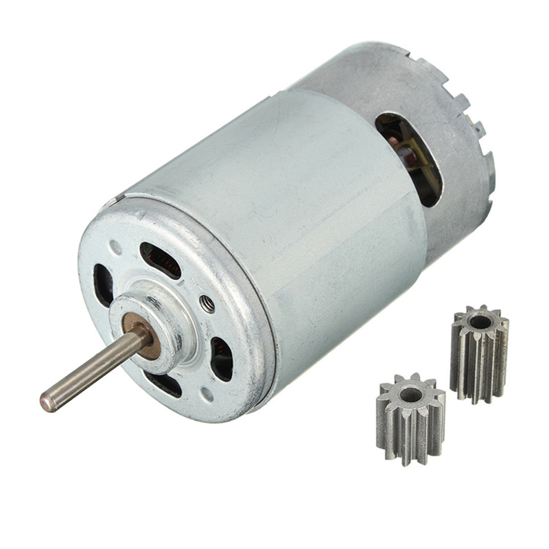 DC Motor <font><b>12V</b></font> 30000 RPM for Children Electric Car,RC Ride, Baby Car Electric Motor <font><b>RS550</b></font> Gearbox 10 teeth Engine Best image