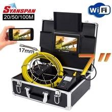 """SYANSPAN 7 """"Wireless WiFi 20/50/100 M ท่อตรวจสอบกล้องวิดีโอ, ท่อระบายน้ำท่ออุตสาหกรรม Endoscope สนับสนุน Android/IOS"""