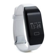 H3 Bluetooth four.zero IP67 waterproof OLED Show good watch wristband Coronary heart fee pedometer(white)