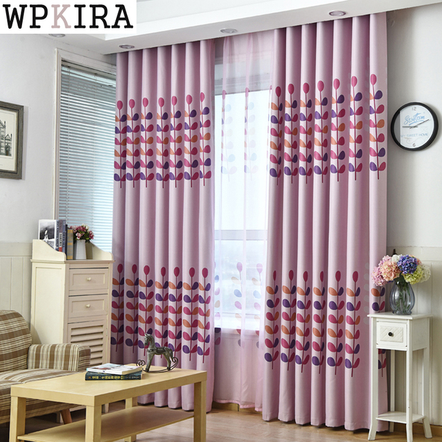 Modern Curtains High Quality Cartoon Embroidered Window Cloth Curtain  Living Room Children Bedroom Ready Made Curtains