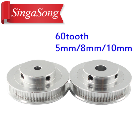 1pcs New GT2 Timing Pulley 30 36 40 60 Tooth Wheel Bore 5mm 8mm Aluminum Gear Teeth Width 6mm Parts For Reprap 3D Printers Part Multan