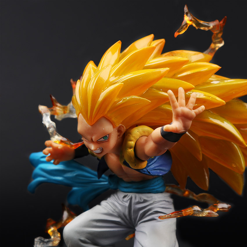 Dragon Ball Z Super Saiyan 3  Action Figure – Gotenks Brinqudoes | 16cm