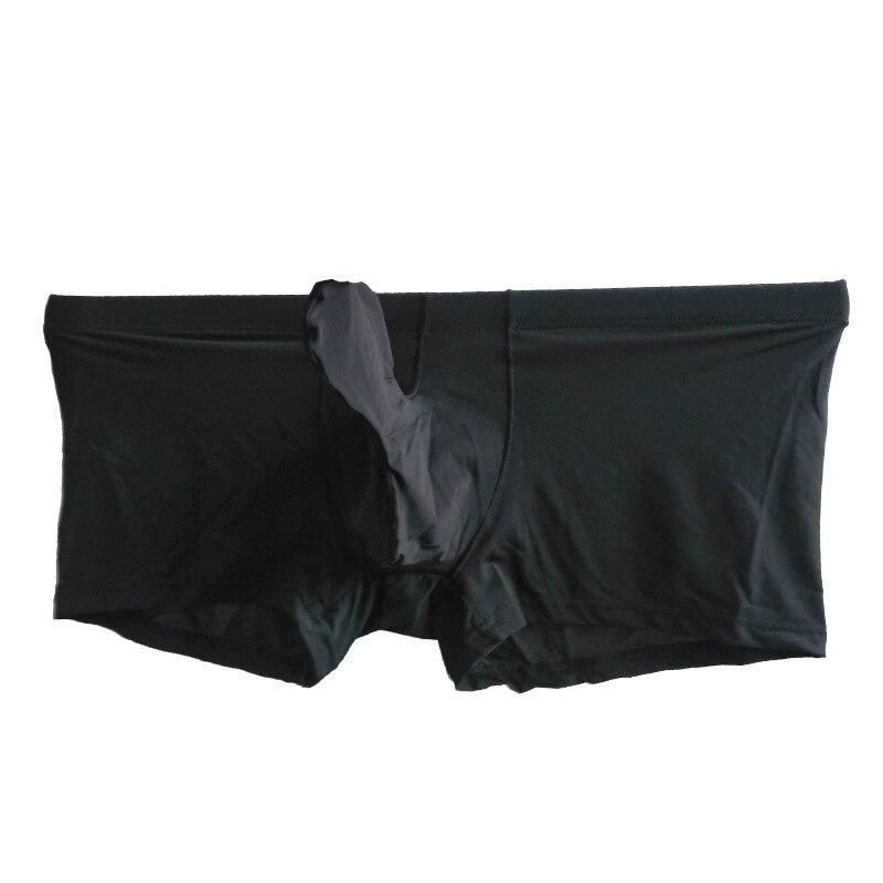 ec0d3131e Cheap Hombre boxeadores ropa interior Gay bragas de seda Sexy Cueca joven boxeador  pantalones elefante Hombre