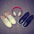 Verano Hombres Shose 2015 Nueva Moda Hombres Zapatos de Cuero Ocasionales Breathab Corea Guisantes Zapatos Slip On Hombres Holgazanes hombres Plana zapatos