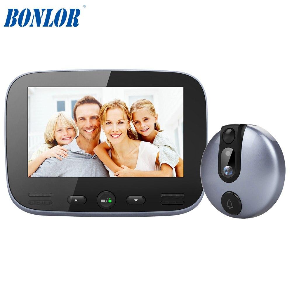 1 компл. 2MP интеллектуальные дверной звонок ИК светодиодный 4.3 дюймов красочные монитор глазок безопасности Камера умный дом домофон исполь...