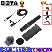 BOYA BY-M11C microfone Condenser Professional Cardioid Lavalier Lapel Microphone System XLR Connector with Low-cut Filter