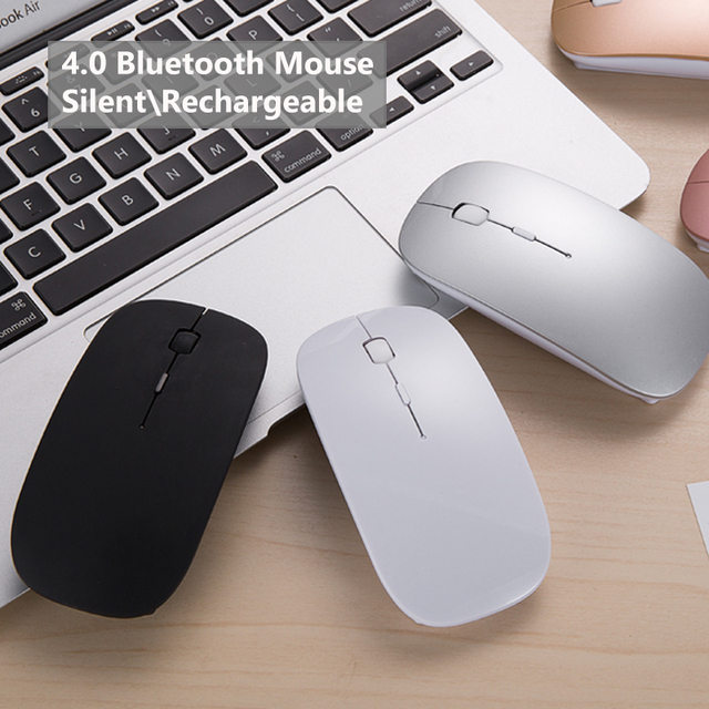 4829d5051d2 New Bluetooth 4.0 Wireless Mouse Mini Rechargeable Computer Mouse for Dell  Acer Hp Asus Mice Optical Silent Click for Mac/Win10