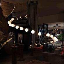 16/26 Heads Modern Loft Style Retro Iron Pendant Lamp Spiral Decoration Parlor Light Restaurant Decoration Light E27 LED Bulb