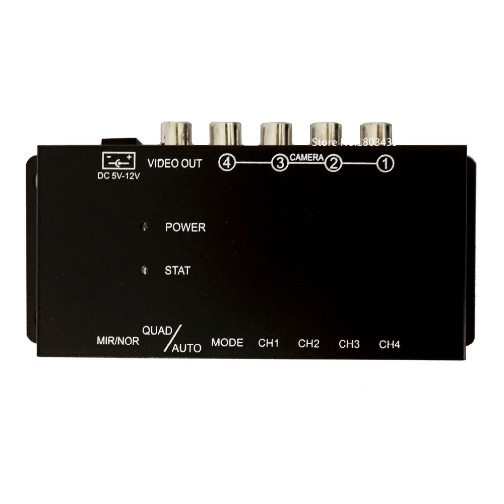 IR control 4 Cameras Video Control Car Cameras Image Switch Combiner Box for Car DVD Player