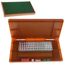 Портативный мини 144 Набор для игры в маджонг мАч Йонг настольная традиционная игра путешествия складная