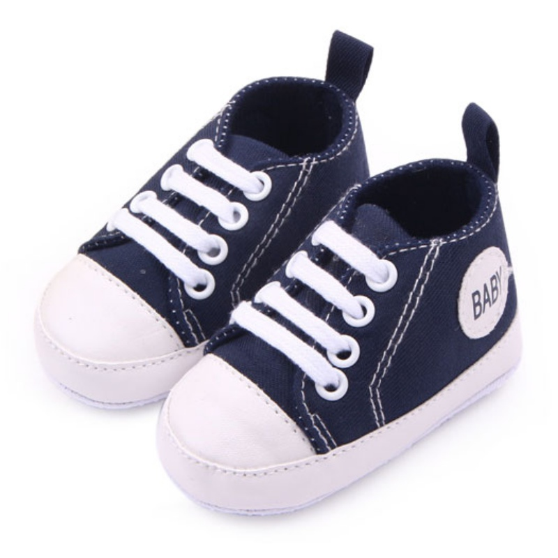 Infant 0-12M Newborn Toddler Canvas Sneakers Baby Boy Girl Soft Sole Crib Shoes First Walkers 12 Colors