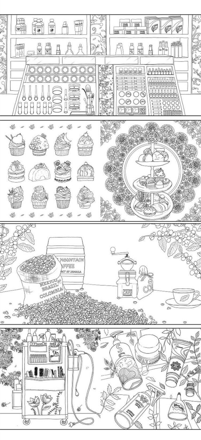 Fantasy Store Colouring Book Secret Garden Style Coloring Book ...