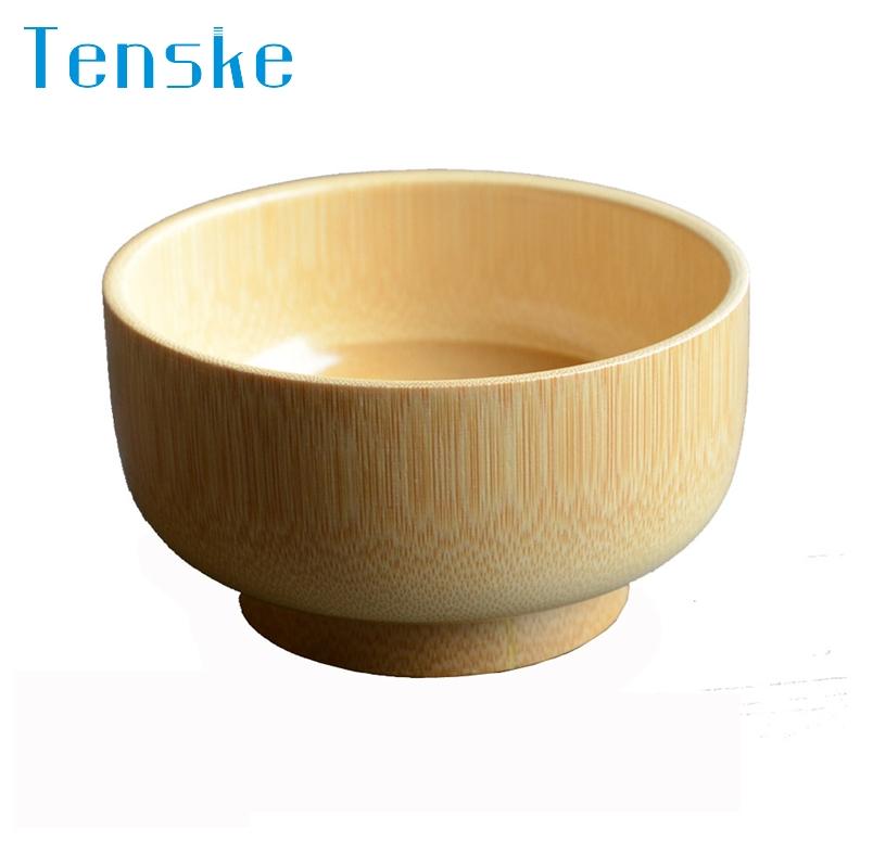 Tenske bowl for kids Bamboo All Natural and Organic Suction Stay put Bowl perfect for Baby*30 GIFT 2017 Drop shipping