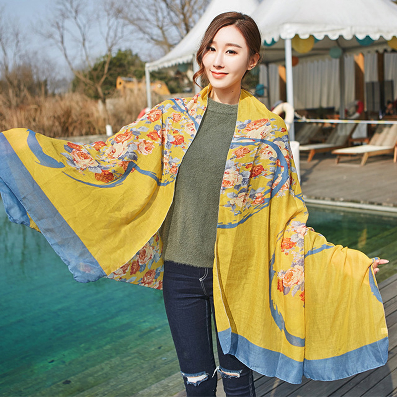 Cotton Korea Style Hot Women   Scarf   with Heart Print Lady Shawl Girl Present Women Gift Long   Scarves     Wraps   Free Shipping