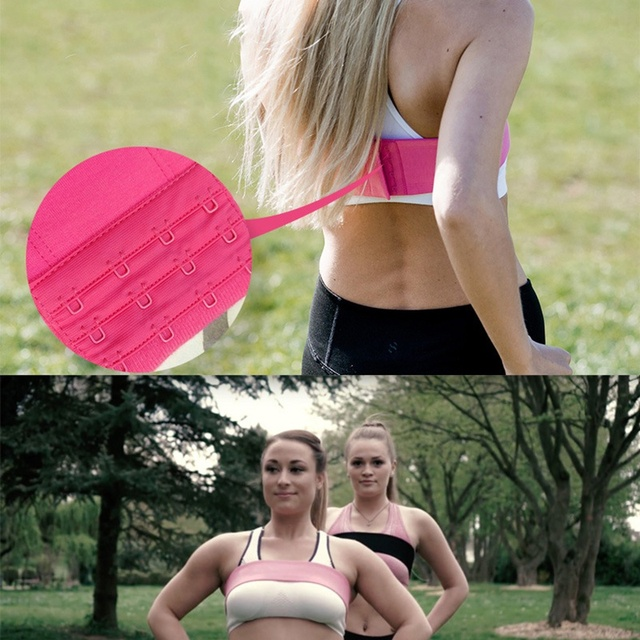 1 Pcs Breast Support Anti Bounce No-Bounce Adjustable Training Athletic Chest Wrap Belt Sports Bra Alternative Accessory 4