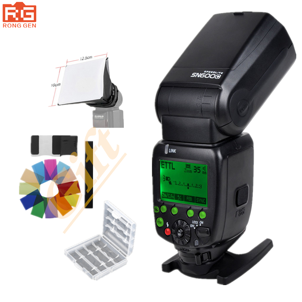 SHANNY SN600C Flash Light Speedlight HSS 1/8000S On-camera TTL GN60 Flashgun Speedlite for Canon
