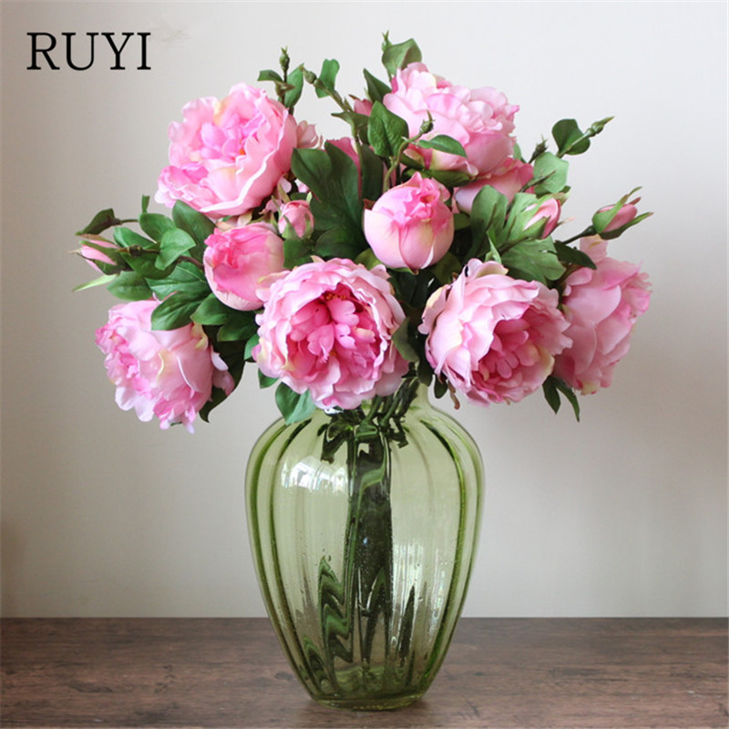 Colorful Peony Living Room Artificial Flower Home Wedding