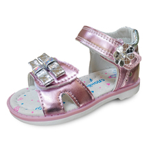 HOT SALE PU leather Girl Children Sandals Orthopedic shoes,  Summer Kids/child's princess  Shoes
