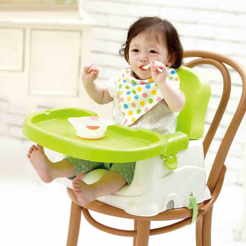 Babyyuga Fold Portable Baby Dining Chair, Tray Booster Seat, Adjustable plate, fix on the chair baby feed chair soft portable baby feed chair gift pillow and rope 4wheels baby booster seat light baby feed chair