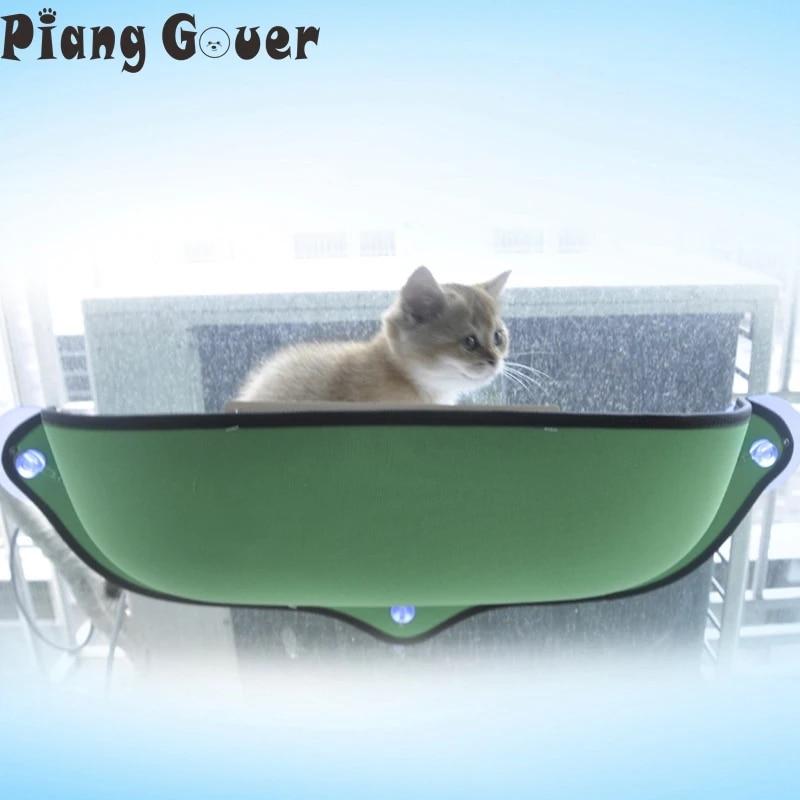 Decdeal Cat Pet Finestra Persico Amaca Letto Cat Window Sedile Lettino con Ventose Lettino Prendisole Amaca Letto per Gatti