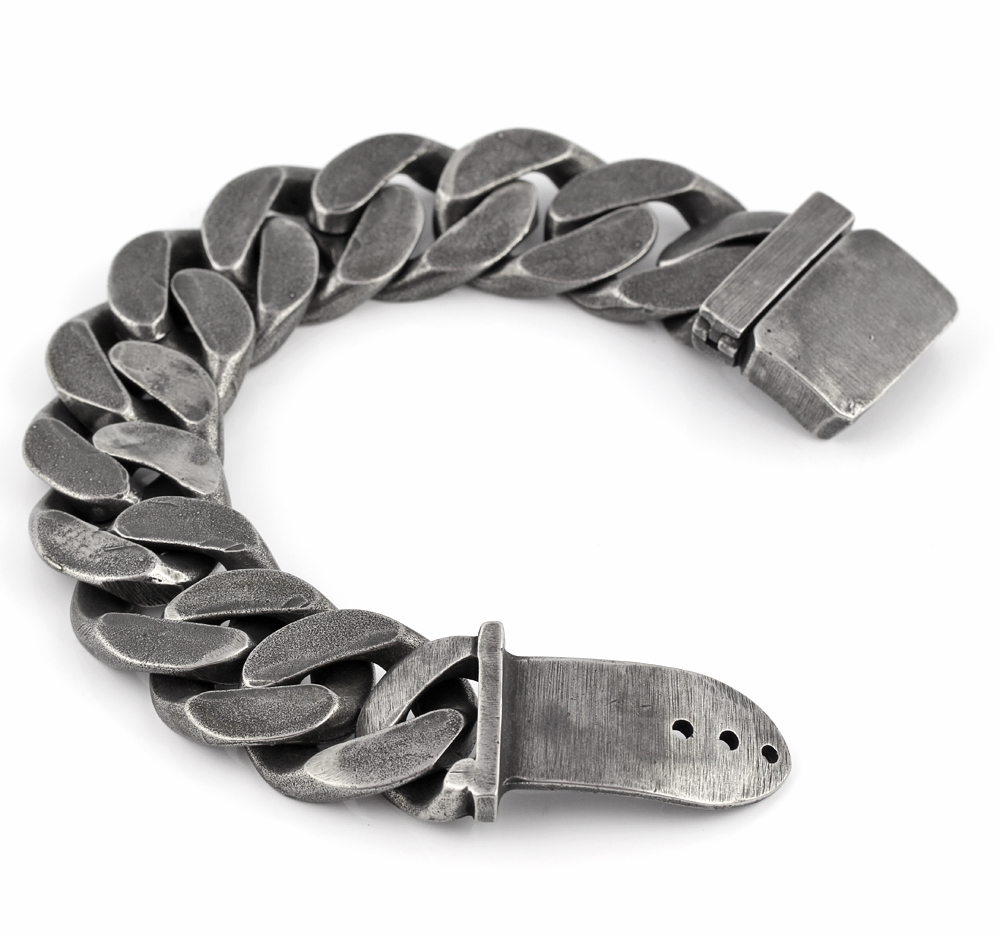 25mm Mens Chain Boys Big Curb Link Gunmetal Tone 316L Stainless Steel Bracelet charm bracelets for women bracelet