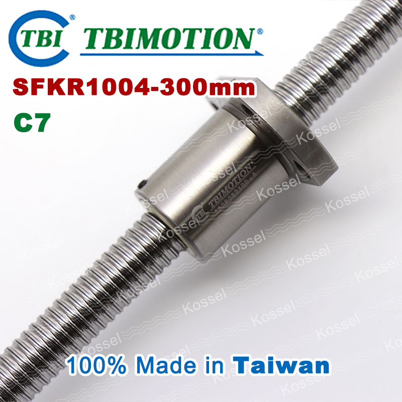 TBI ballscrew 1004 C7 300mm with SFK ball nut SFK1004 + end machined for high stability CNC kit set винт tbi sfkr 0802t3d