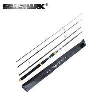 SEASHARK 2.1 2.4 2.7m Lure Rod 4 Sec Carbon Superhard Spinning Fishing Rod Travel Rod Fishing Pole Vava De Pesca Saltwater Rod