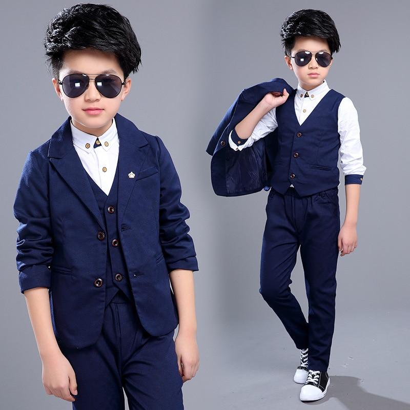 be230a33064e children clothing big boy clothes sets Boy spring suit plaid blazer ...