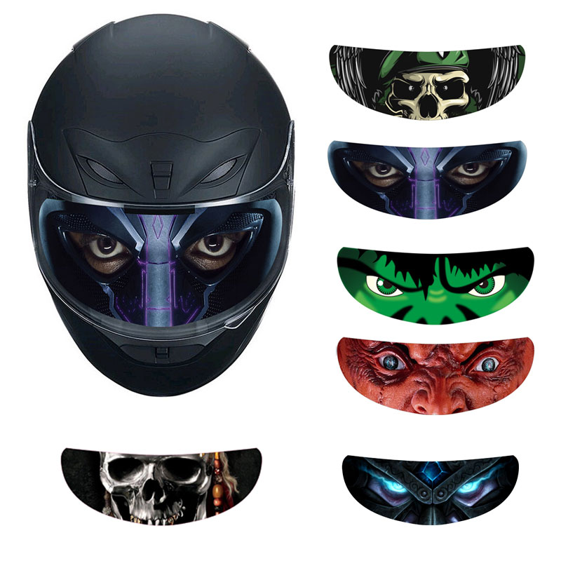 Removable Motorcycle Bike Helmet Visor Sticker Cool Decal 6 Style