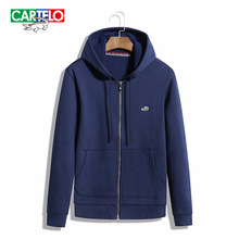 Cartelo brand autumn 2016 new slim fit mens hooded jacket mens hoodies and sweatshirts fashion slim hooded cardigan coat
