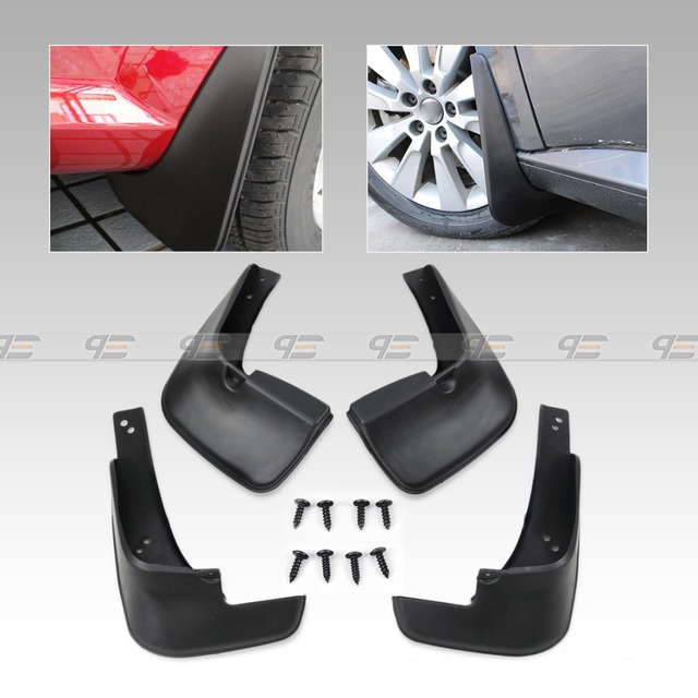 Seguir # New 4 pcs Mud Proteção Contra Respingos Flap Flaps palas Guarda-lamas mudflaps fenders fit for 2002 2003 2004 2005 toyota corolla Sedan
