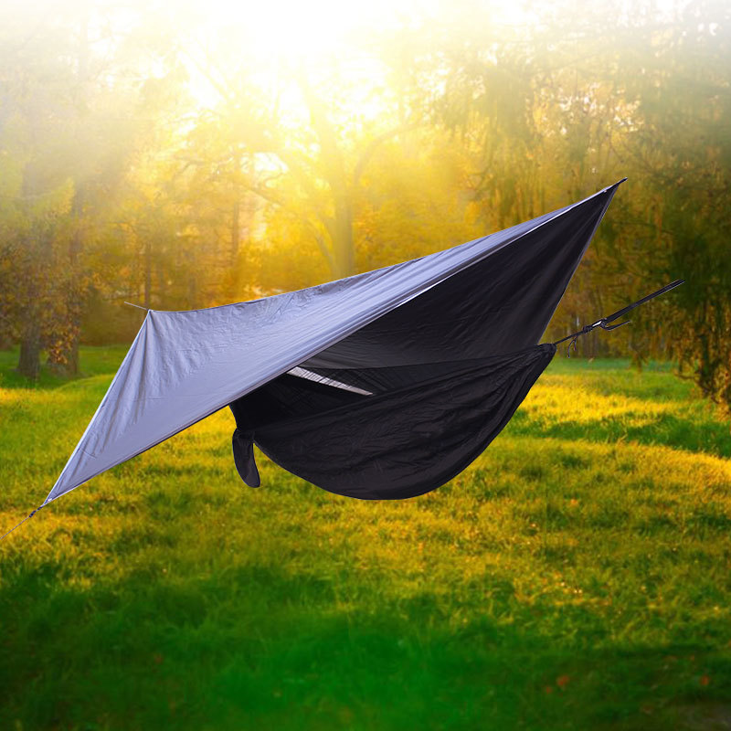 Camping namiot hamak zestaw Outdoor Beach wodoodporny przenośny piesze wycieczki deszcz baldachim Sun Shelter namiot piknik Pad wielofunkcyjny