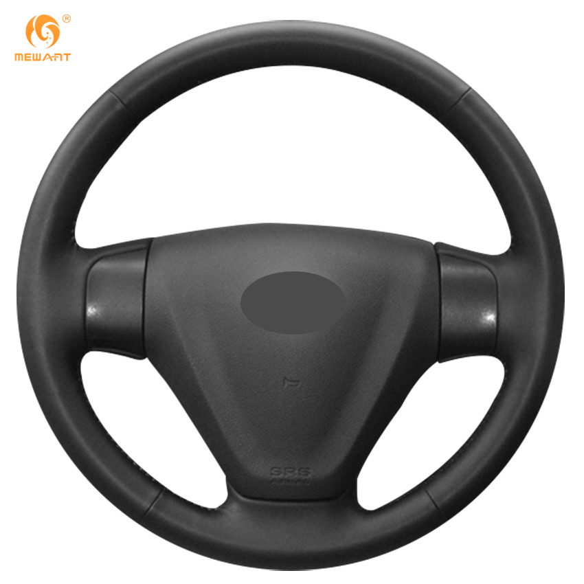 MEWANT Black Genuine Leather Car Steering Wheel Cover for 2005-2009 Kia Rio 2007 Rio Hyundai Accent Hyundai Getz free ship td025 49173 02622 49173 02610 28231 27500 turbo for hyundai accent matrix getz for kia cerato rio crdi 2001 d3ea 1 5l