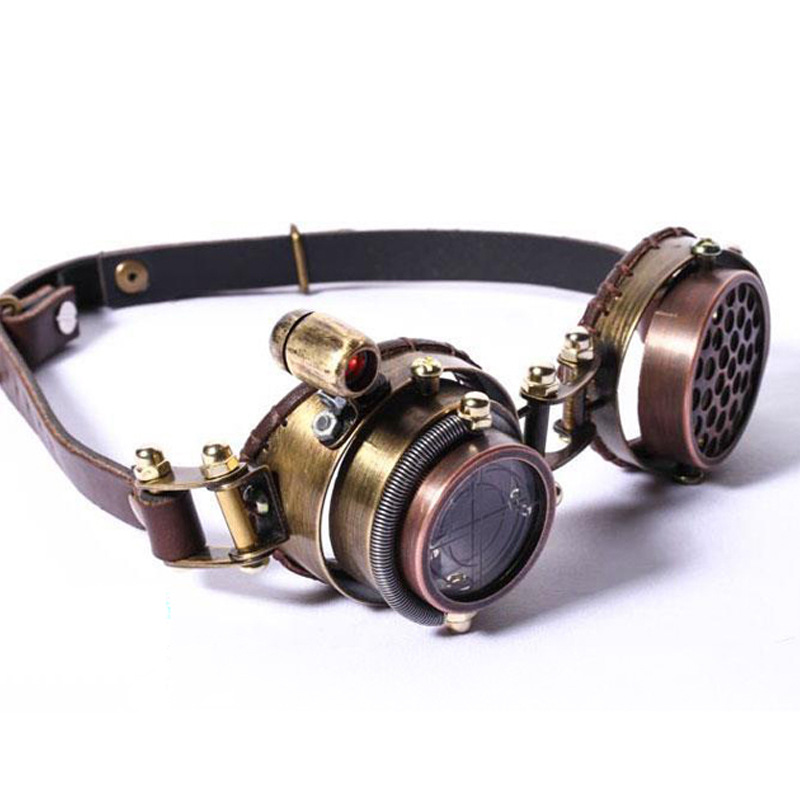 New Steampunk Goggle For Men Women Brand Design Retro High Grade Gothic Sunglasses Multilayer Lens